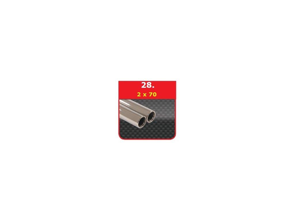 28 - Nerezová koncovka výfuku - 2×70 kruh