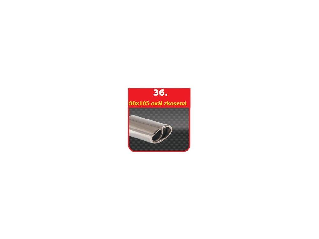 36 - Nerezová koncovka výfuku - 75×100 zkosená