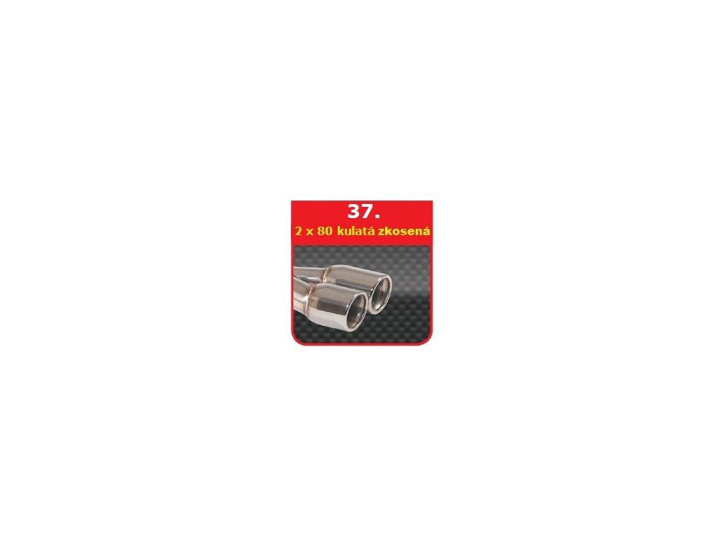 37 - Nerezová koncovka výfuku - 2×80 stranově zkosená