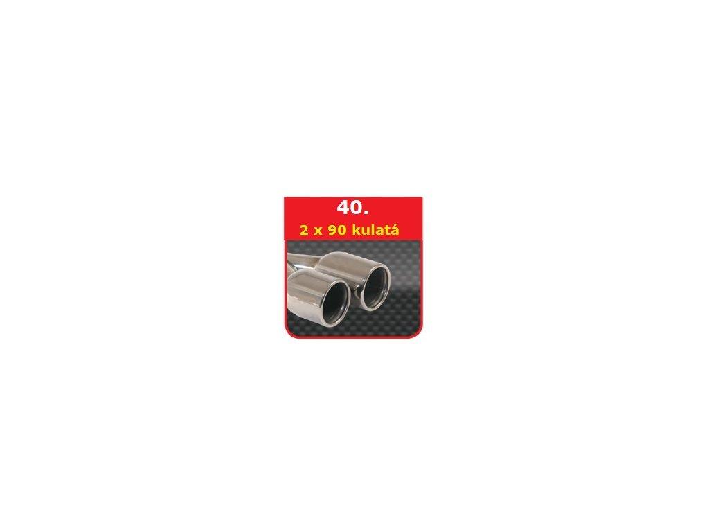 40 - Nerezová koncovka výfuku - 2×90