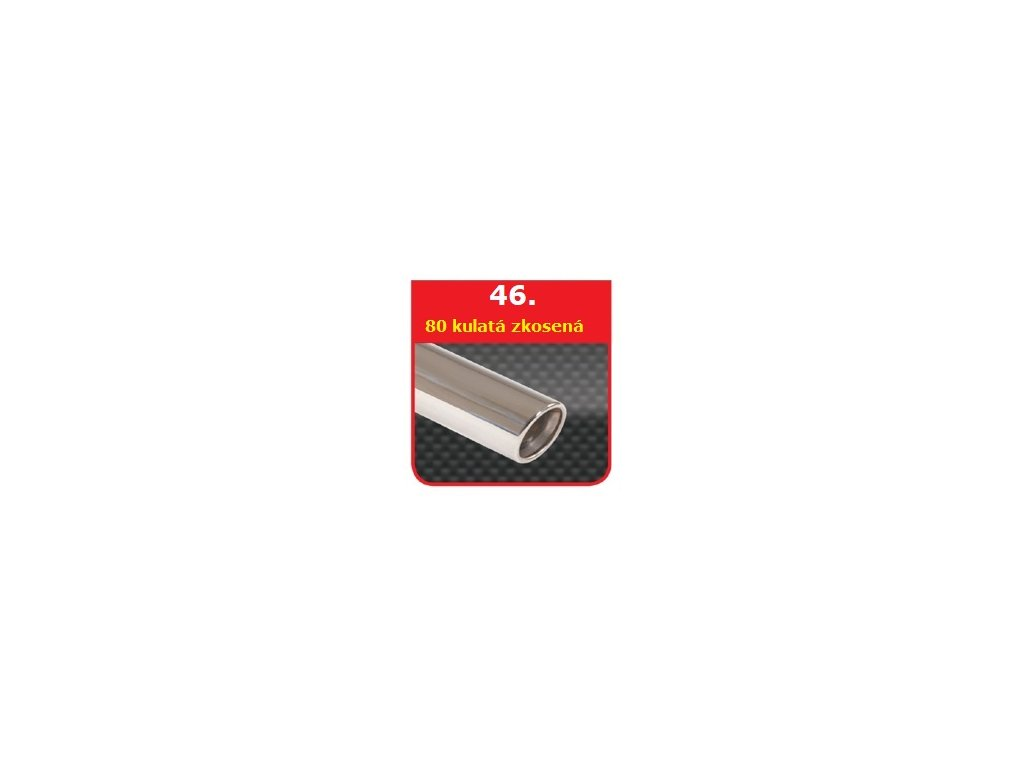 46 - Nerezová koncovka výfuku - 80 zkosená