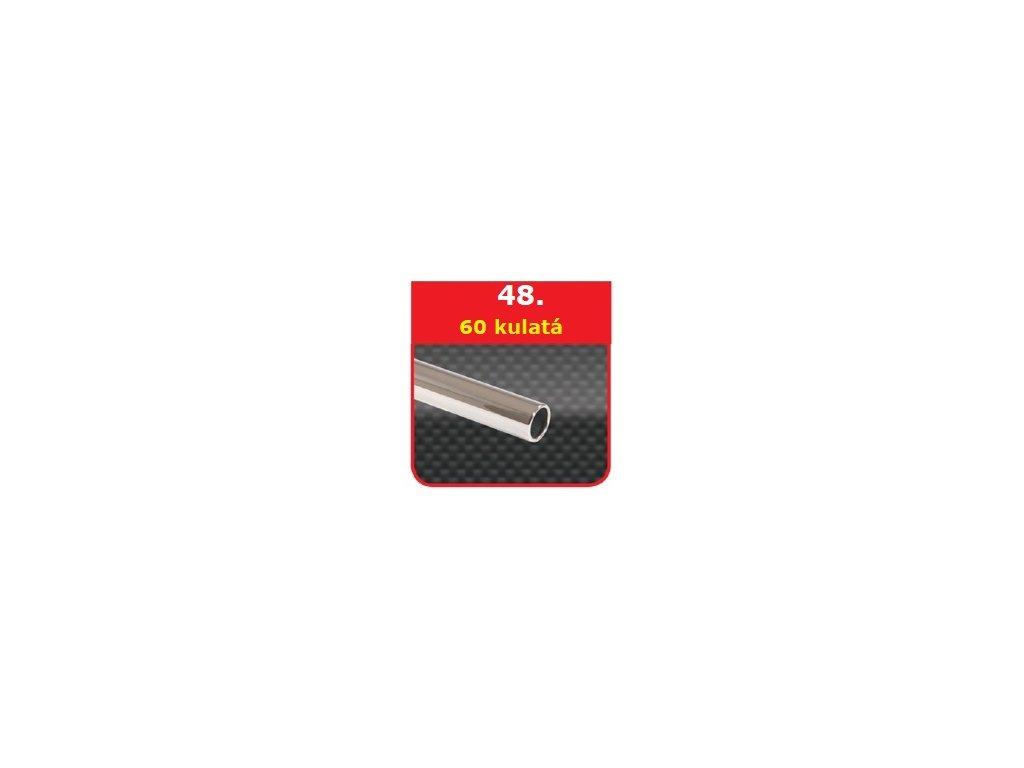 48 - Nerezová koncovka výfuku - 60 kulatá