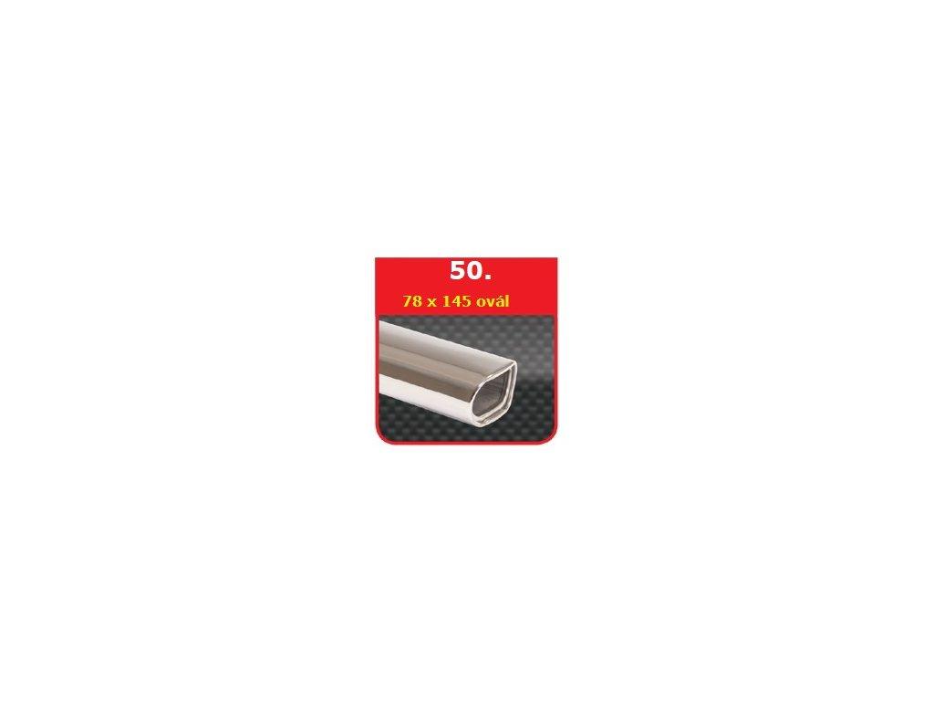 50 - Nerezová koncovka výfuku - 78×150 ovál