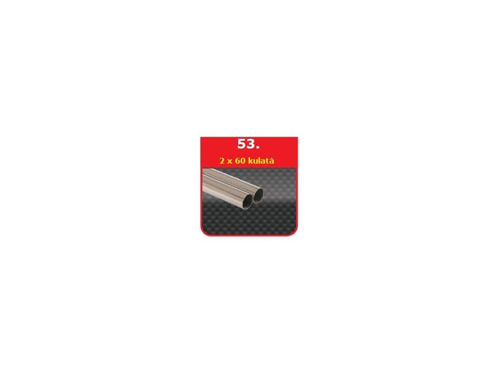 53 - Nerezová koncovka výfuku - 2×60