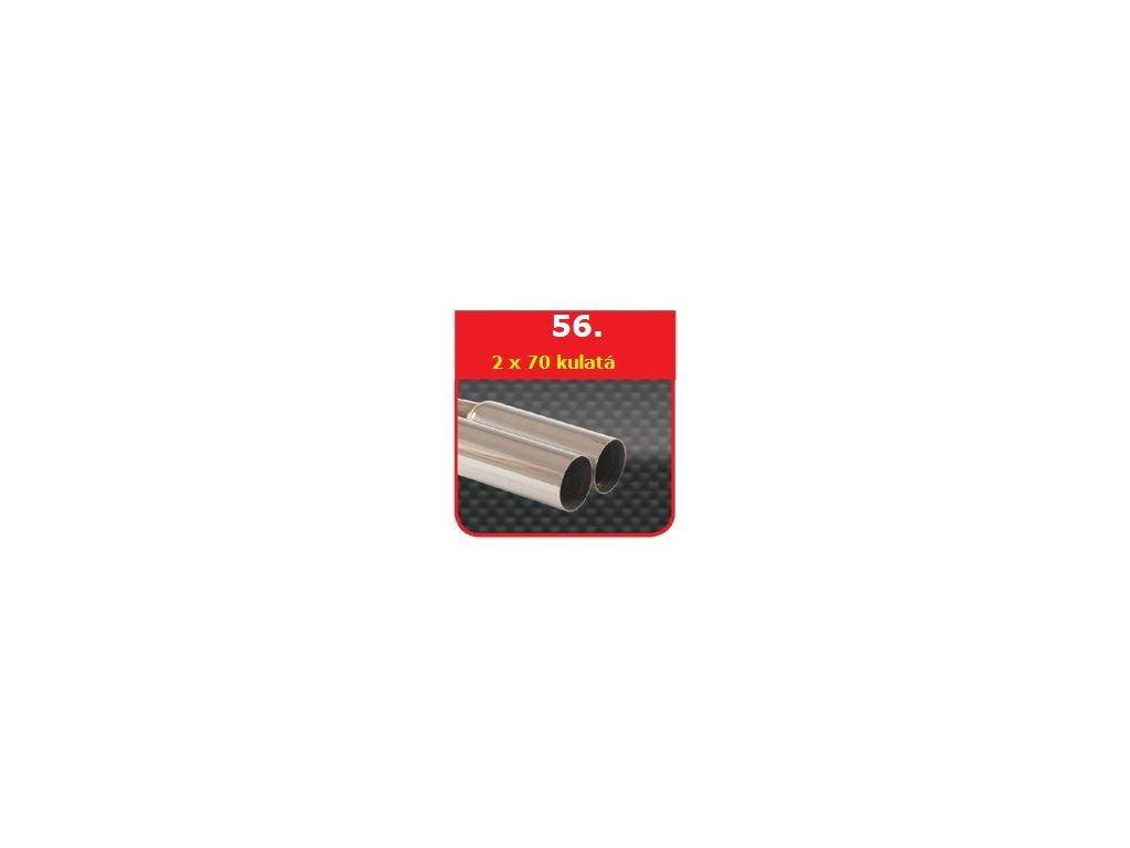56 - Nerezová koncovka výfuku - 2×70