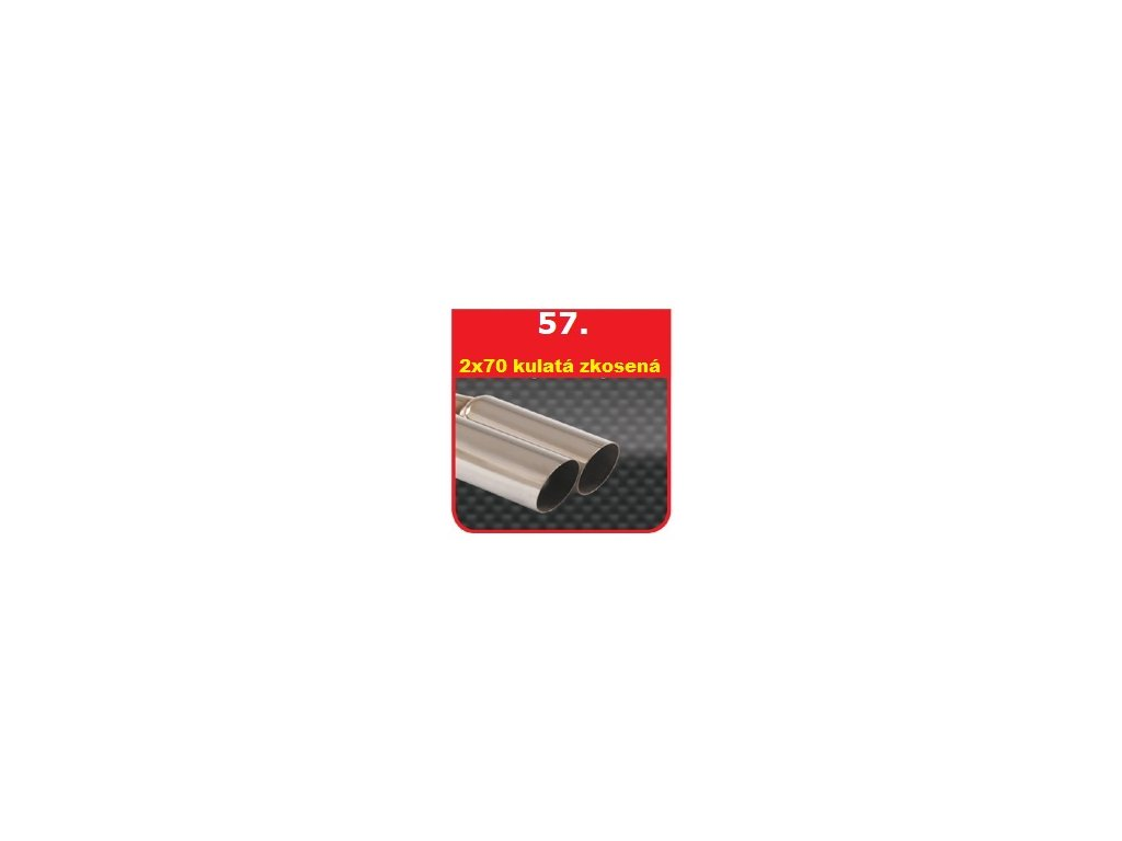 57 - Nerezová koncovka výfuku - 2×70 zkosená