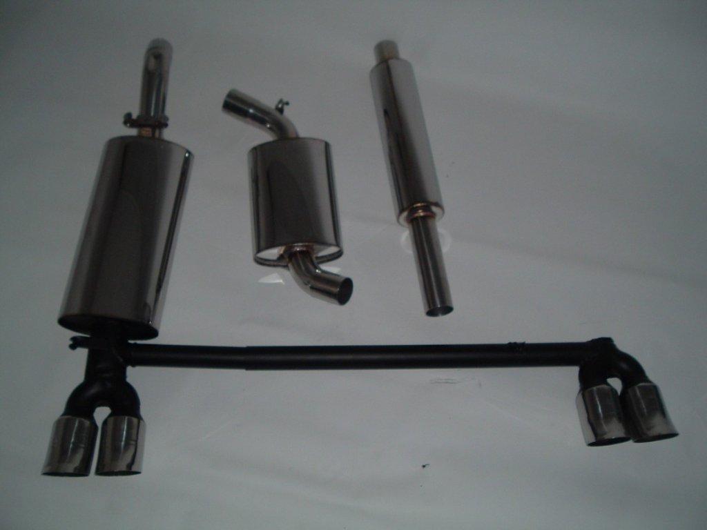 Nerezový výfuk DUPLEX pro VW Golf II, střed. a konc. díl