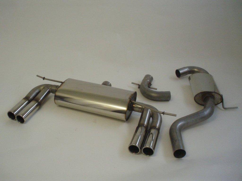 """Nerezový výfuk """"DUPLEX"""" (70mm) pro VW Golf V, střed. a konc. díl."""