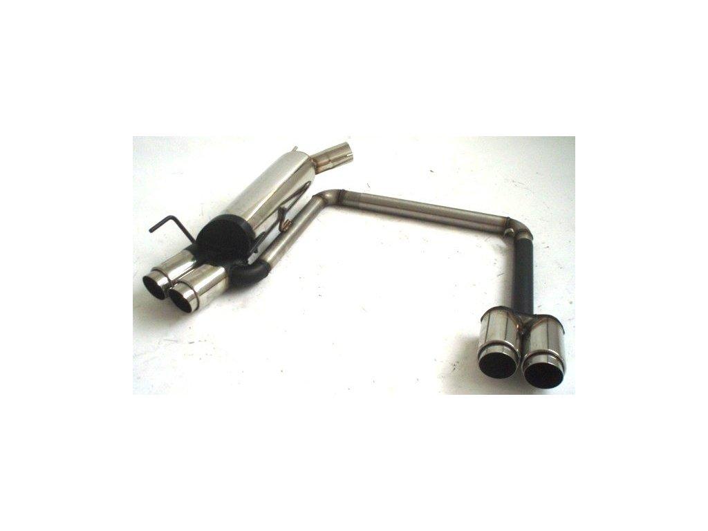 Corsa B - Nerezový výfuk Duplex - koncový - 63.5 mm
