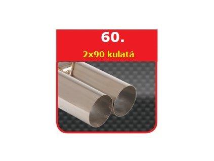 1 - Nerezová koncovka výfuku - 2×76 DTM