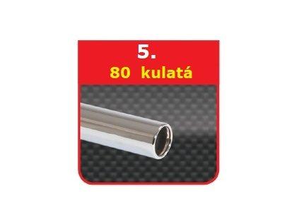 5 - Nerezová koncovka výfuku - 80 kulatá