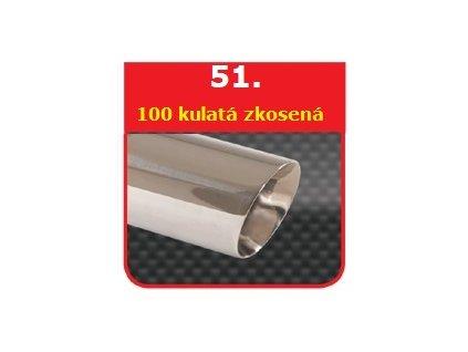 51 - Nerezová koncovka výfuku - 100 široký okraj