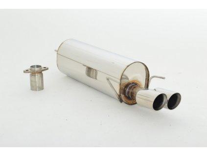 Koncový díl výfuku 63,5 mm - NEREZ