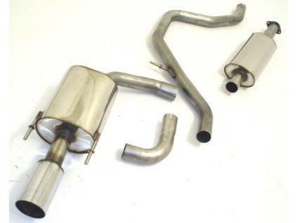 Nerezový výfuk - středový a koncový díl - 63.5 mm