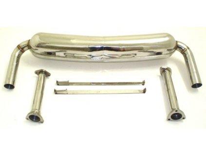 Nerezový výfuk Duplex - koncový díl - 63,5 mm