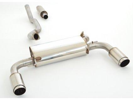 Nerezový výfuk Duplex - středový a koncový díl - 63,5 mm
