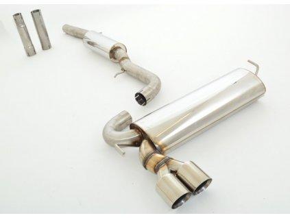 Nerezový výfuk - středový a koncový díl - 70 mm