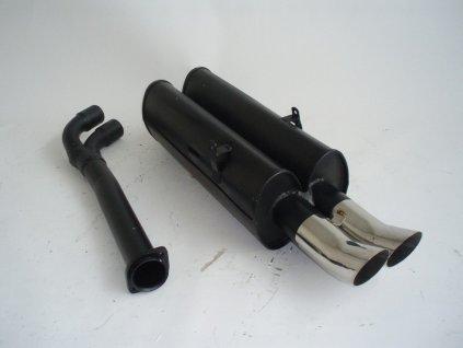 E36 - středový a koncový díl 63,5 mm - HLINÍKOVANÝ