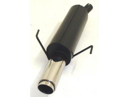Koncový díl výfuku 63.5 mm - HLINÍKOVANÝ