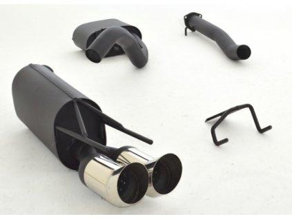 Hliníkovaný výfuk - středový a koncový díl - 63,5 mm