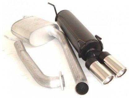 Středový a zadní tlumič výfuku - hliníkovaný