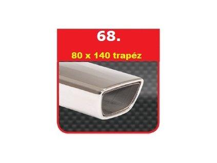 68 - Nerezová koncovka výfuku - 80×140 Trapéz