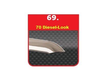 69 - Nerezová koncovka výfuku - 70 Diesel-Look