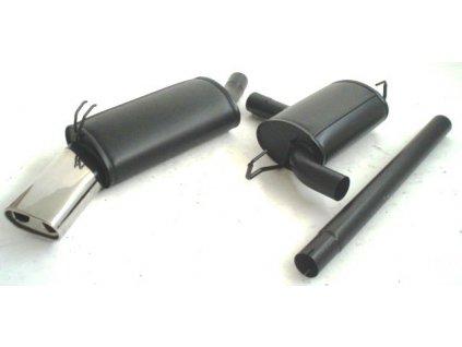 Barchetta - středový a koncový díl 63,5 mm - HLINÍKOVANÝ
