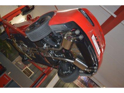 Camaro - středový a koncový díl Duplex s ovládáním klapek 76 mm - NEREZ