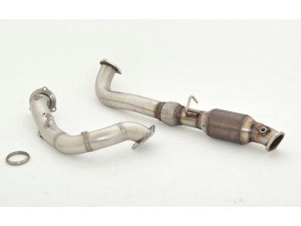 Insignia - Downpipe 76 mm s HJS 200 buněčným Kat- NEREZ