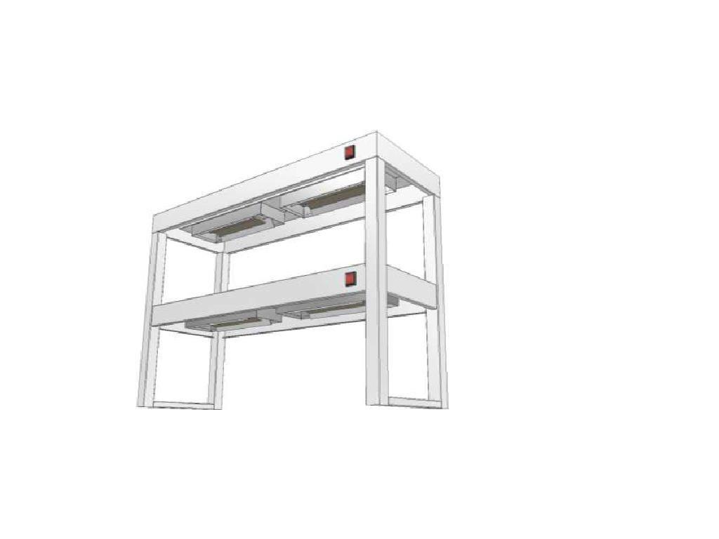 14420 stolovy nastavec dvoupatrovy s infraohrevem ksndi 350x1800