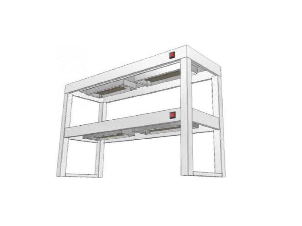 14453 stolovy nastavec dvoupatrovy s infraohrevem ksndi 400x1600