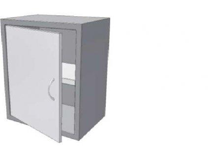 14213 skrinka uzavrena s kridlovym dvirkem a polici knssjk 350x700