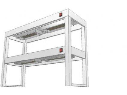 14399 stolovy nastavec dvoupatrovy s infraohrevem ksndi 350x1100