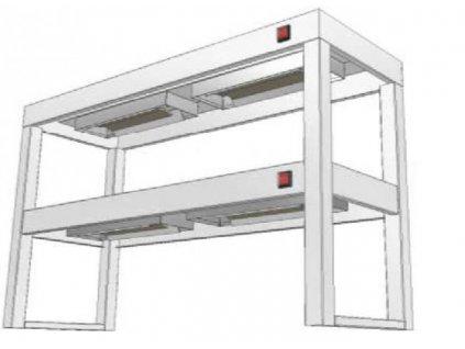 14438 stolovy nastavec dvoupatrovy s infraohrevem ksndi 400x1100