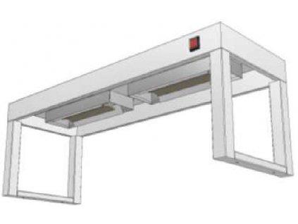 14243 stolovy nastavec jednopatrovy s infraohrevem ksnji 300x1000