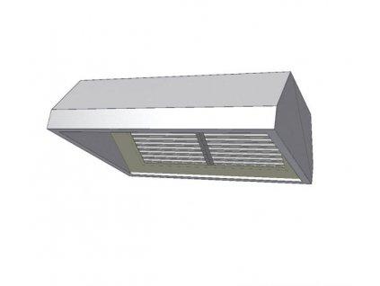 10238 digestor zavesna s jednou radou filtru 1400x800mm kdvz1