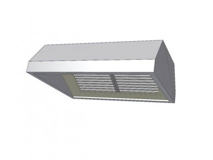 10262 digestor zavesna s jednou radou filtru 1800x900mm kdvz1