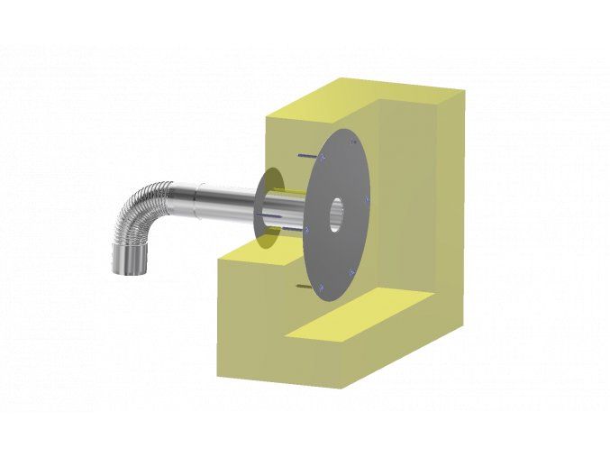 Střešní přepad SP-L pro celoplošné  nalepení hydroizolace