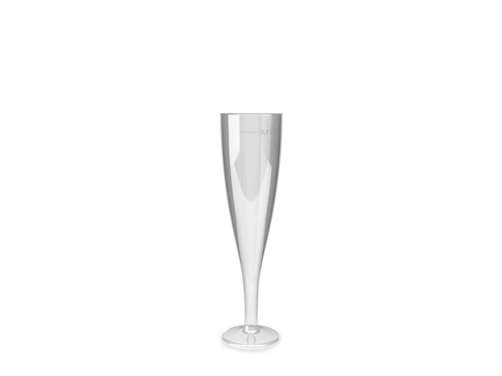 Plastový pohárek Sekt 10cl čirý / JEDNORÁZOVÝ