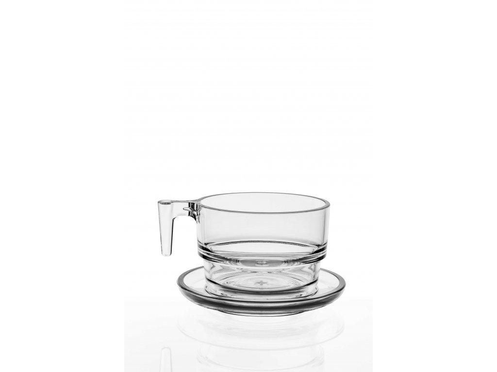 Set 2. Cappuccino and Tea 268ml / 6ks čirá