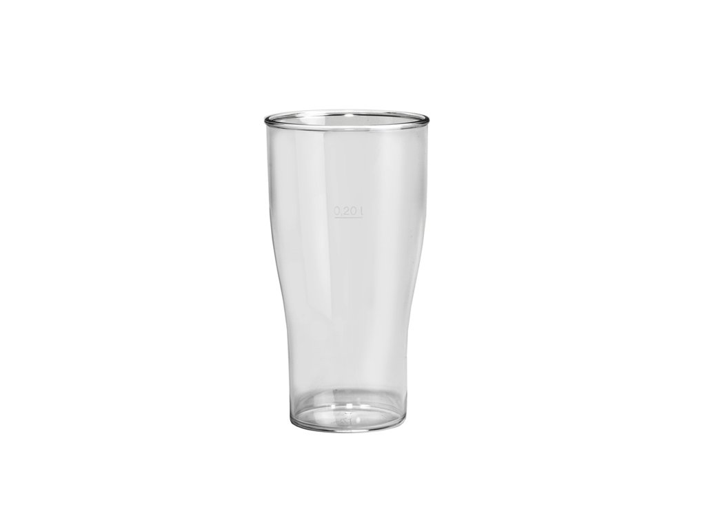 Nerozbitná sklenice DD pivo 200ml čirá