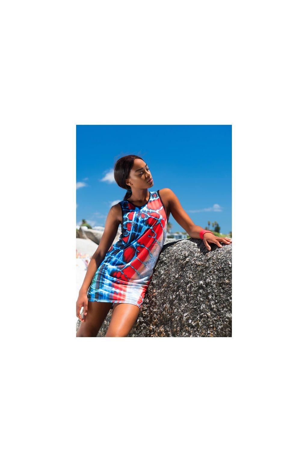 46115d7acd7 Šaty sportovního střihu OSS 91 - Red Agate - Nessi Sportswear