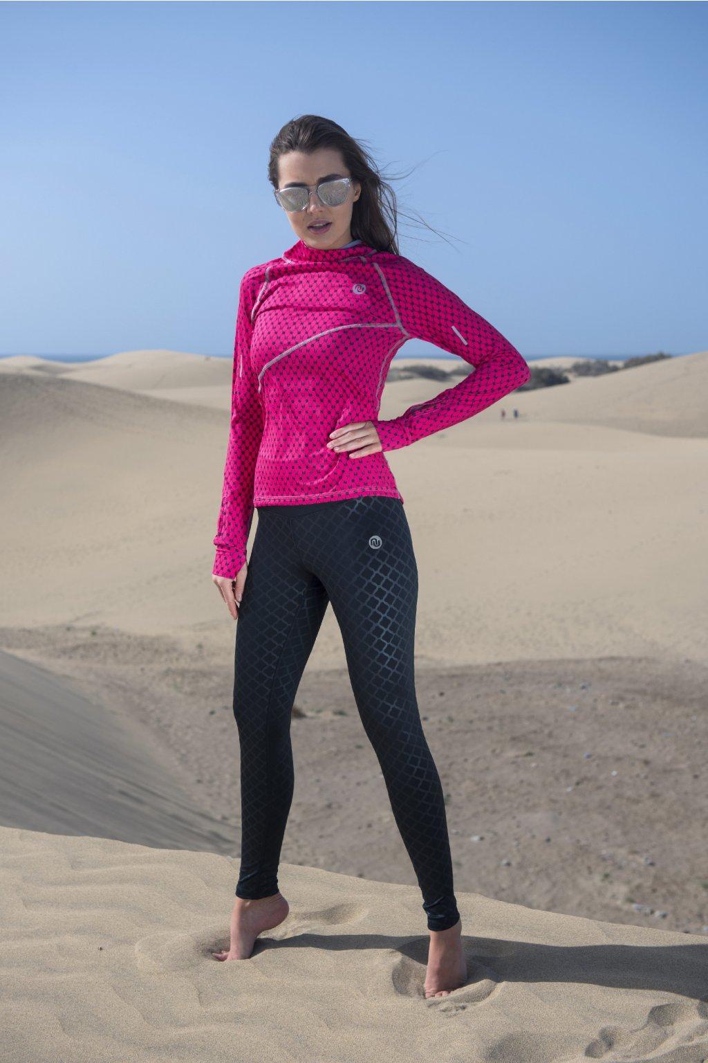 Běžecké/Fitness Legíny OSLK90 - Shiny Black