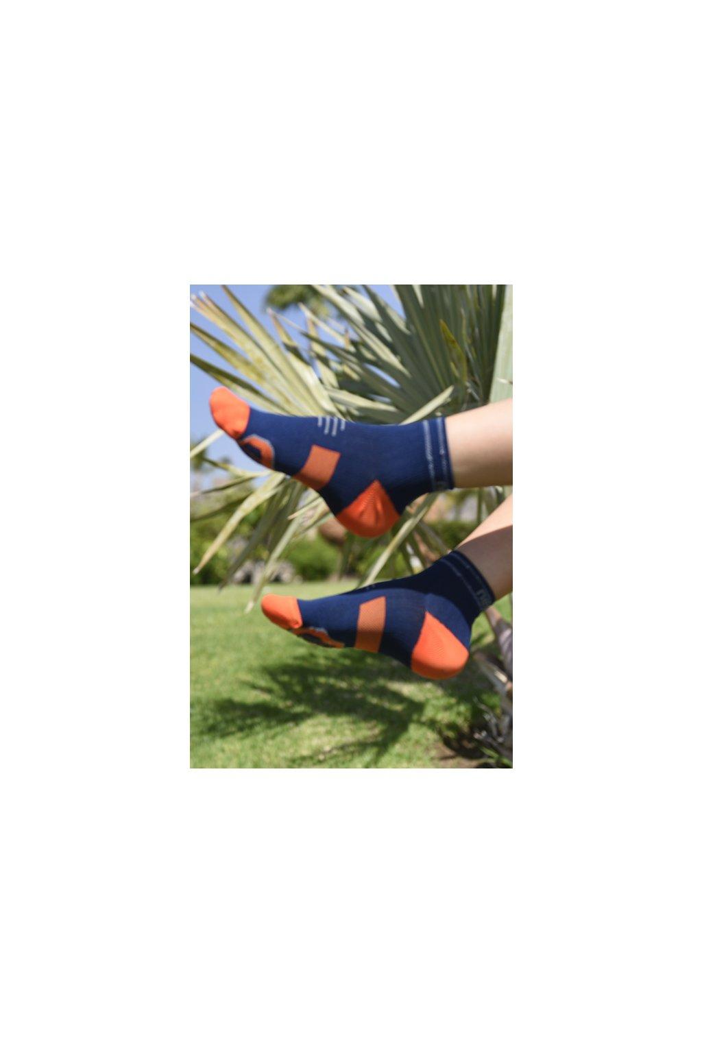 Běžecké ponožky PRO Race R RMO-17 Blue + orange