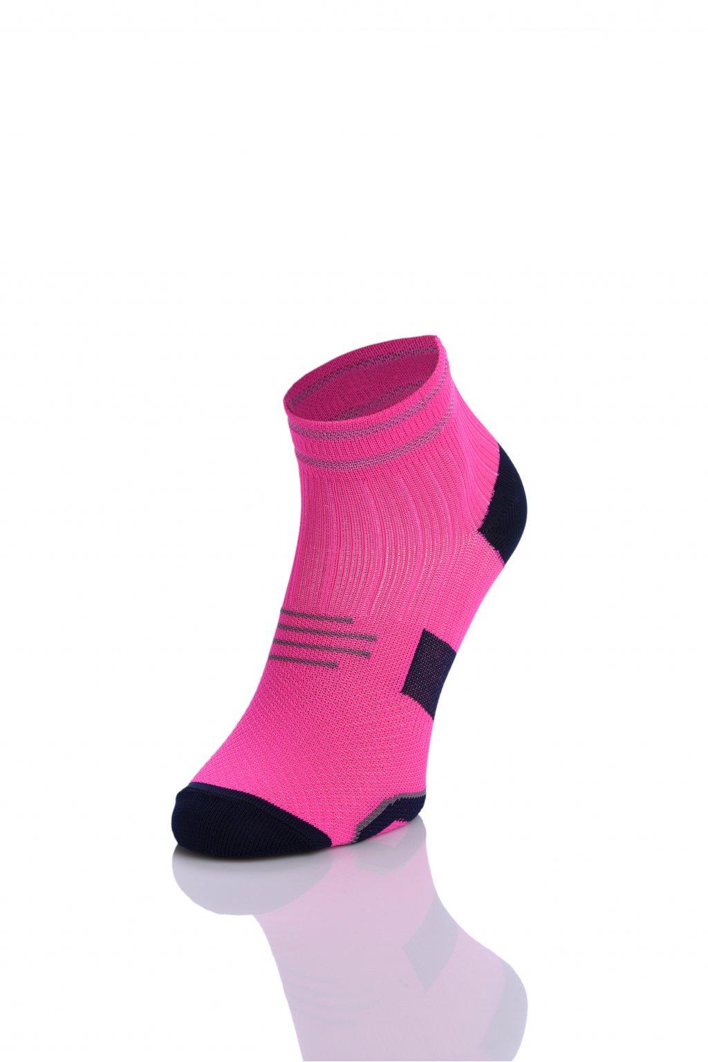 Běžecké ponožky PRO maraton RMO-5 - Růžová