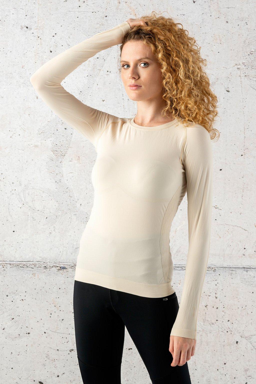 ultra light Triko s dlouhým rukávem beige bld 11 1