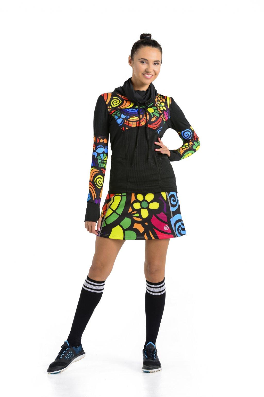 feaf0e0249a Sportovní sukně se šortkami 04 - Mosaic - Nessi Sportswear