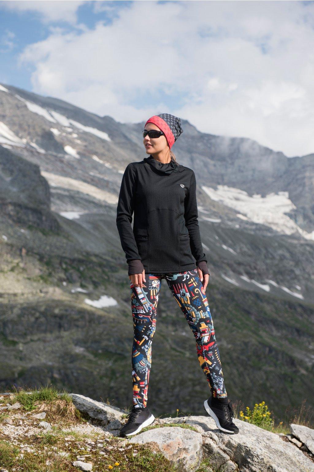 Běžecké/Fitness Legíny OSLK10M4 - Mosaic Metzli