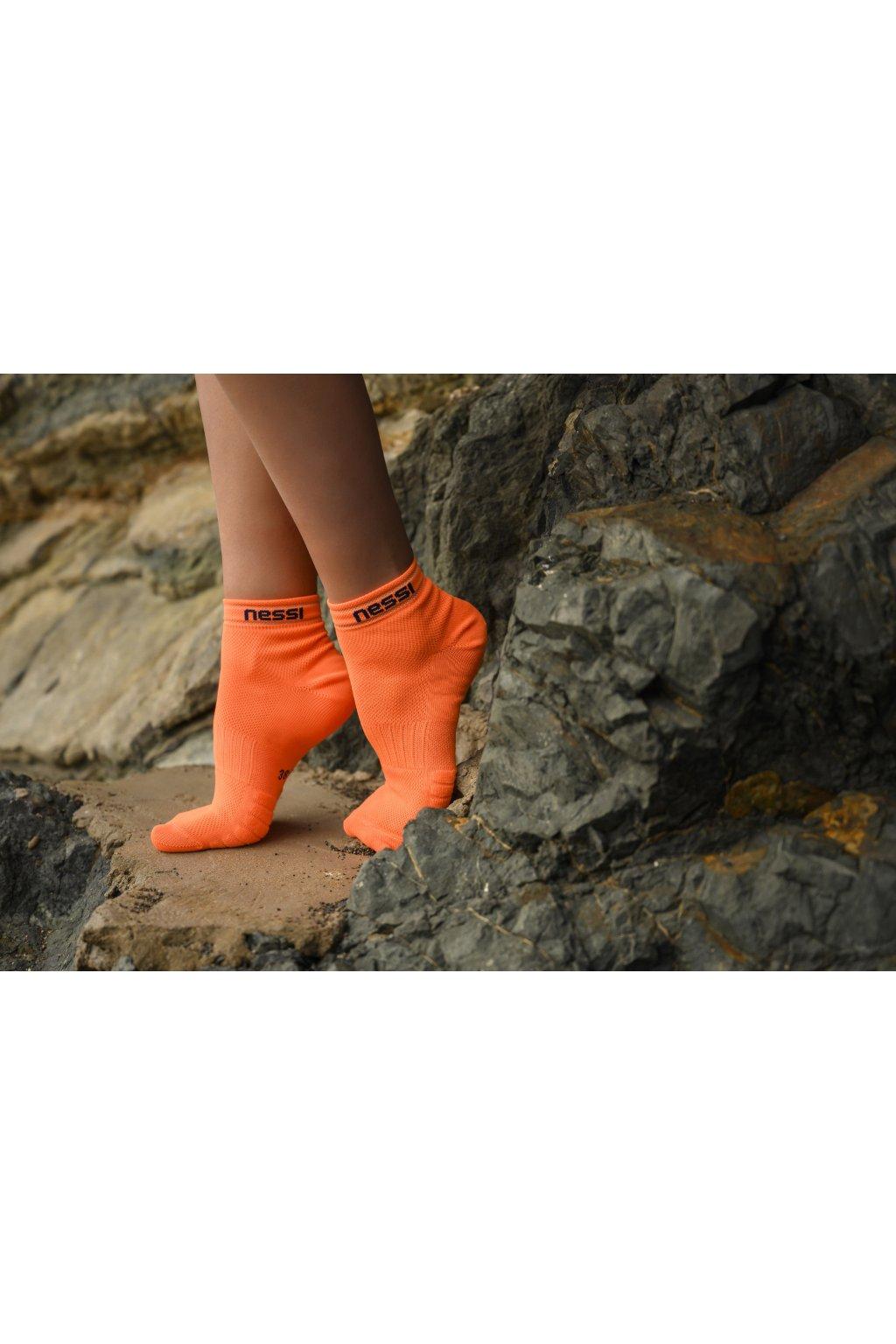 Prodyšné běžecké ponožky Road R RSO-3 Orange